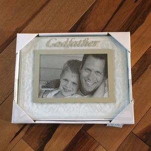 "NWT glass ""Godfather"" picture frame"